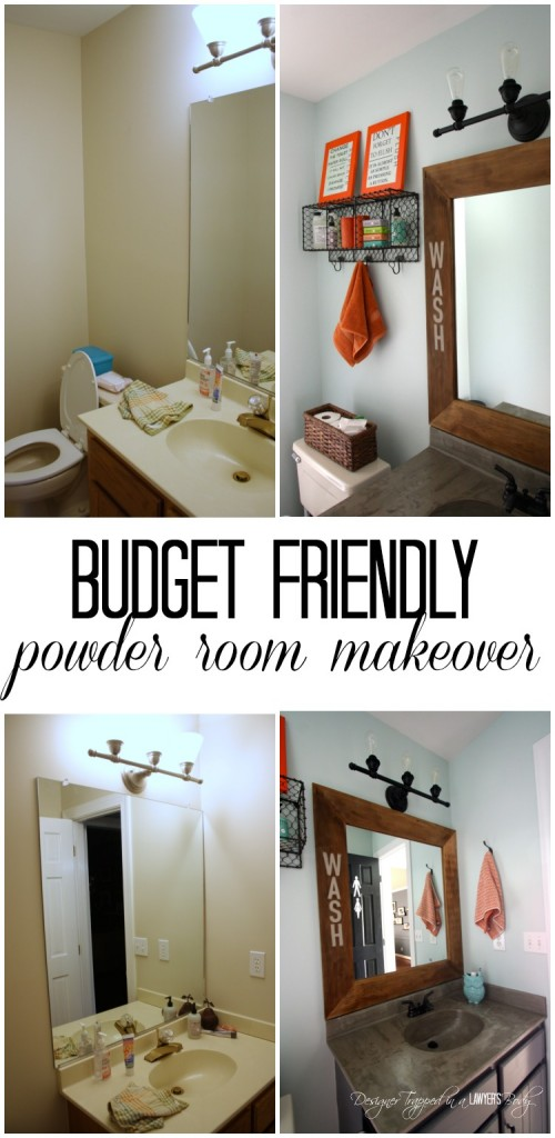 MUST PIN! Powder room reveal full of amazing powder room ideas by Designer Trapped in a Lawyer's Body! #powderroom