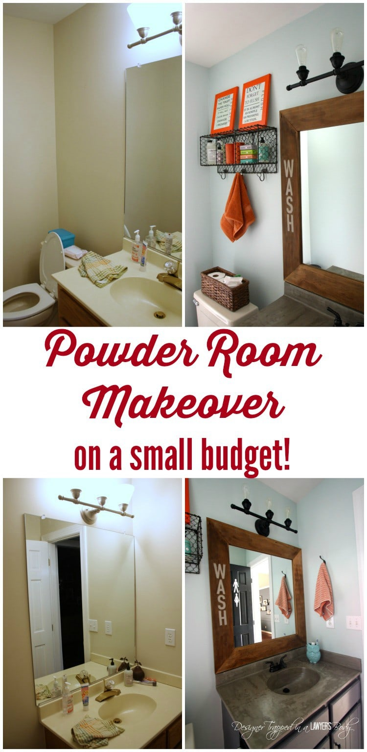 powder room reveal full of amazing powder room ideas by designer trapped in - Powder Room Decor