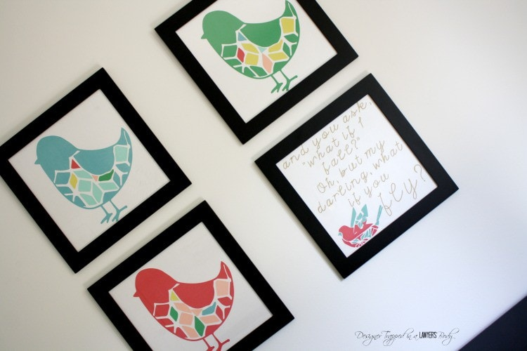 MUST PIN! Awesome DIY bird wall art--full tutorial. #diyart #birdart