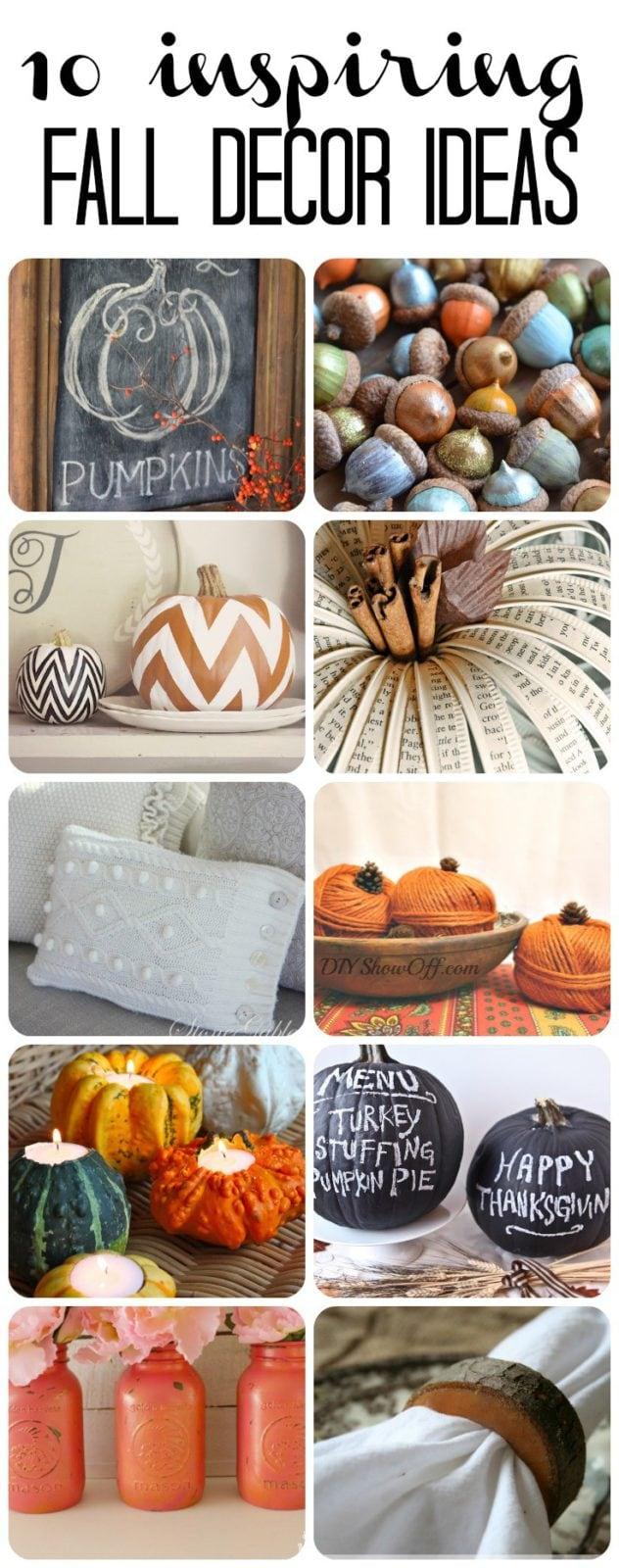 10 Inspiring DIY Fall Decor Ideas!