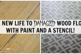 Stenciled Kitchen Floor Tutorial