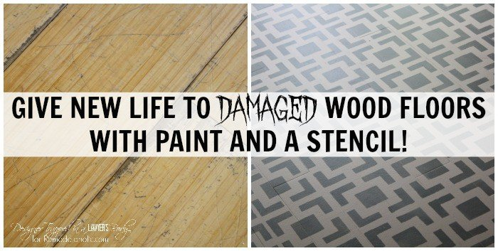 Stenciled Kitchen Floor Tutorial