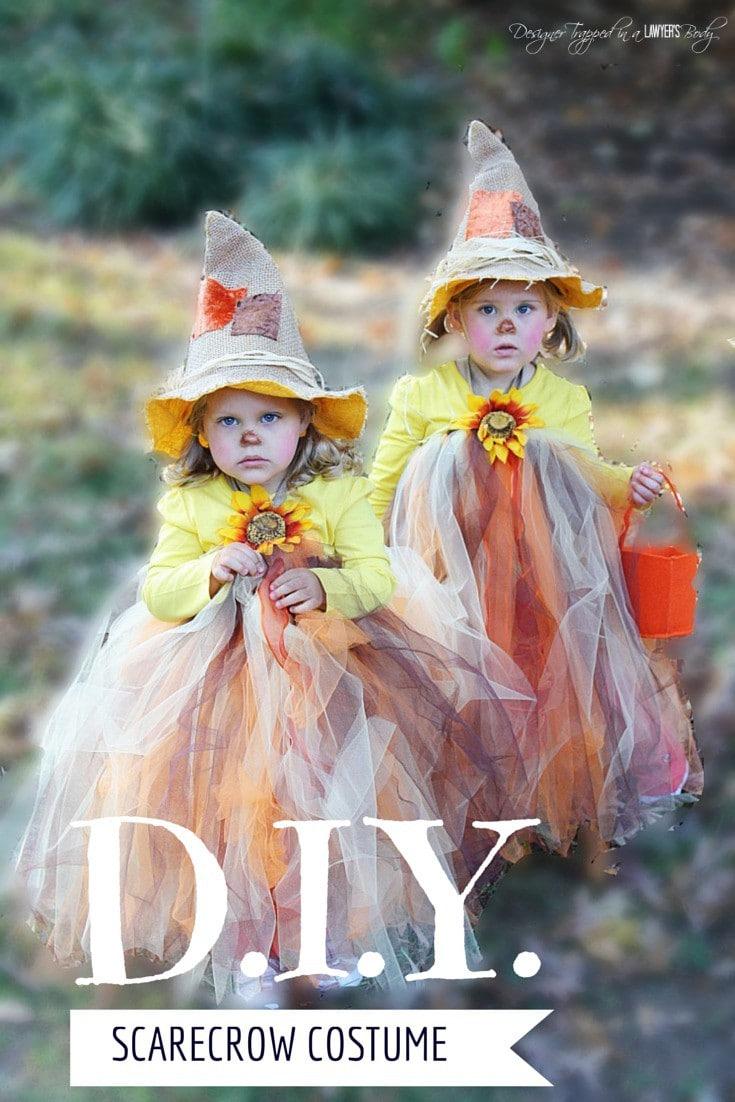 Diy scarecrow tutu halloween costume adorable and easy solutioingenieria Images