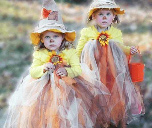 DIY Scarecrow Tutu Halloween Costume