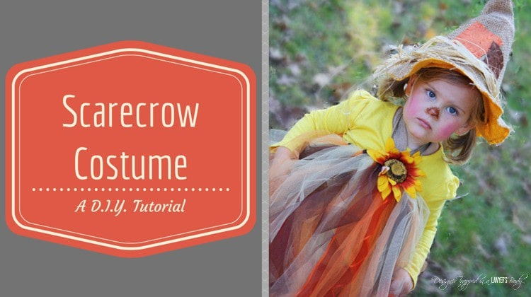 OMG! Cutest tutu halloween costume EVER! Full tutorial. #scarecrowtutu #tutuhalloween