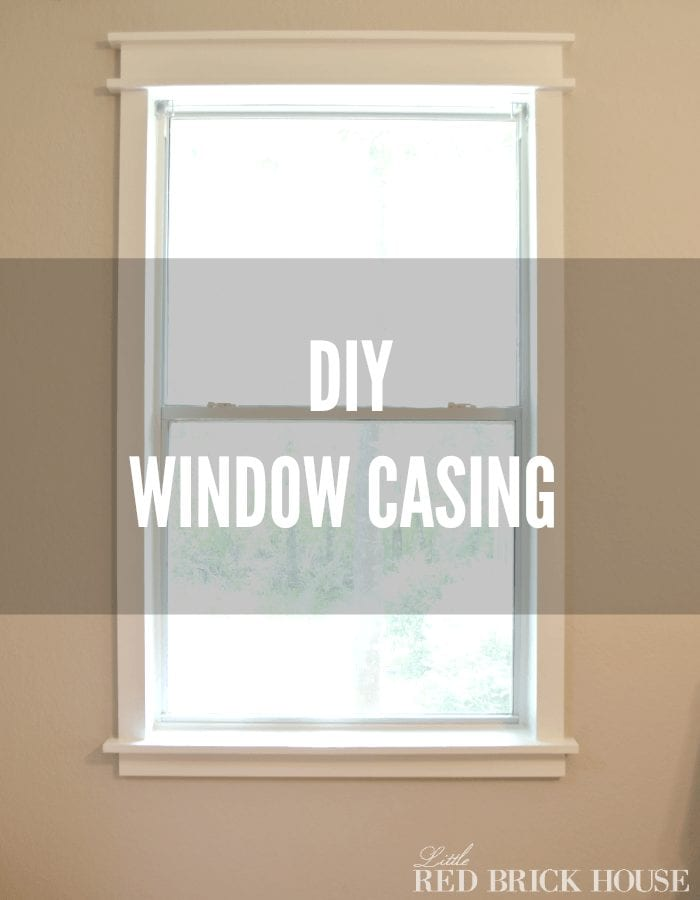 Diy window casing add character to your windows for Window trim ideas