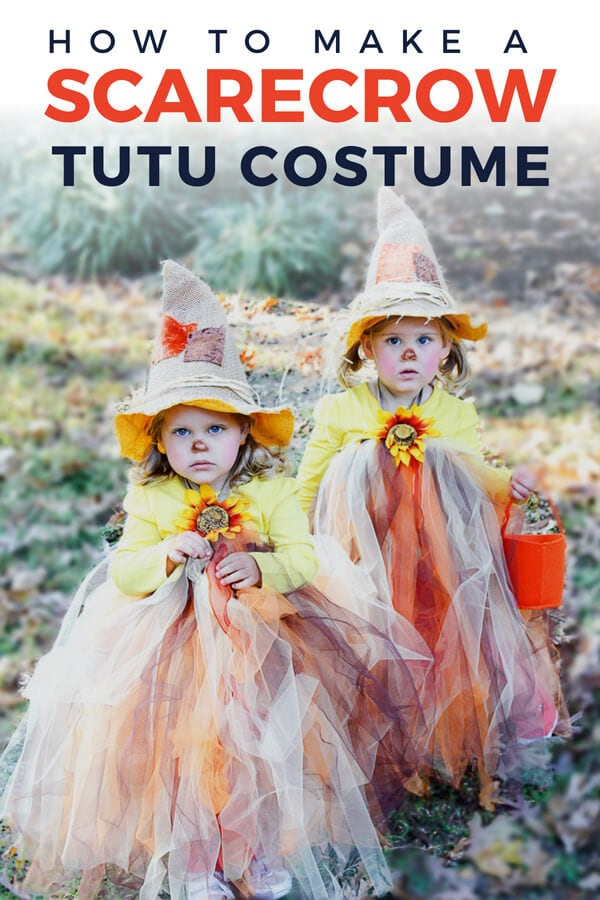 this adorable scarecrow tutu is actually a simple diy it is the cutest idea out there for a tutu halloween costume for your little girl