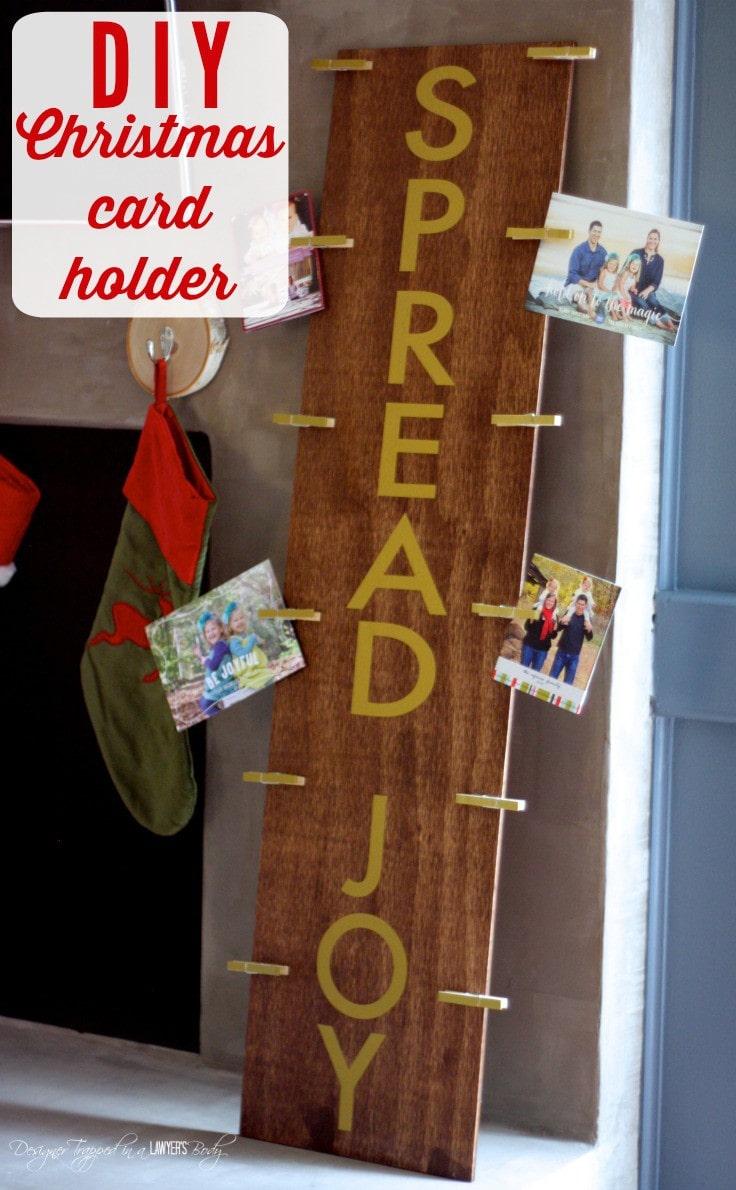 do you need a way to display your christmas cards in a way - Photo Holder Christmas Cards
