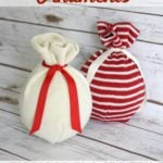 GENIUS! Learn how to make sweater ornaments for $2.00 in 2 minutes! Full tutorial by Designer Trapped in a Lawyer's Body.