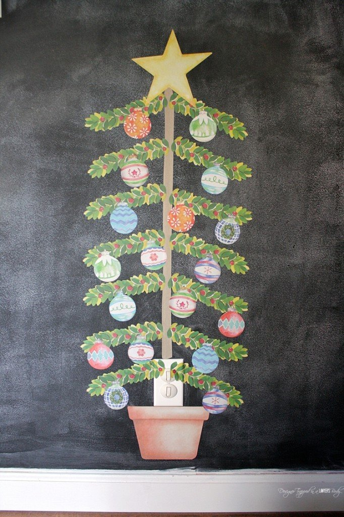 SO FUN! Easy, durable, kid-friendly Christmas decor from Wallternatives!