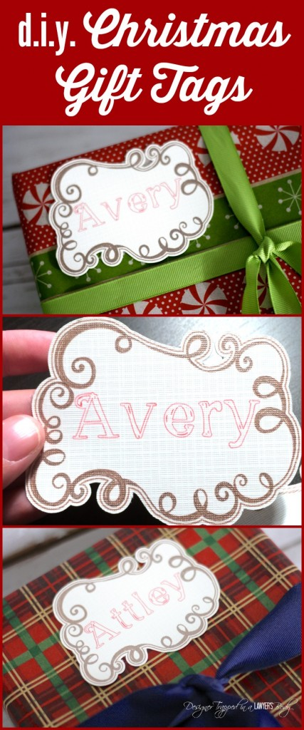 AMAZING! In search of pretty Christmas gift tags? Make your own! Check out these silhouette cameo ideas and DIY Christmas Tag tutorial by Designer Trapped in a Lawyer's Body!