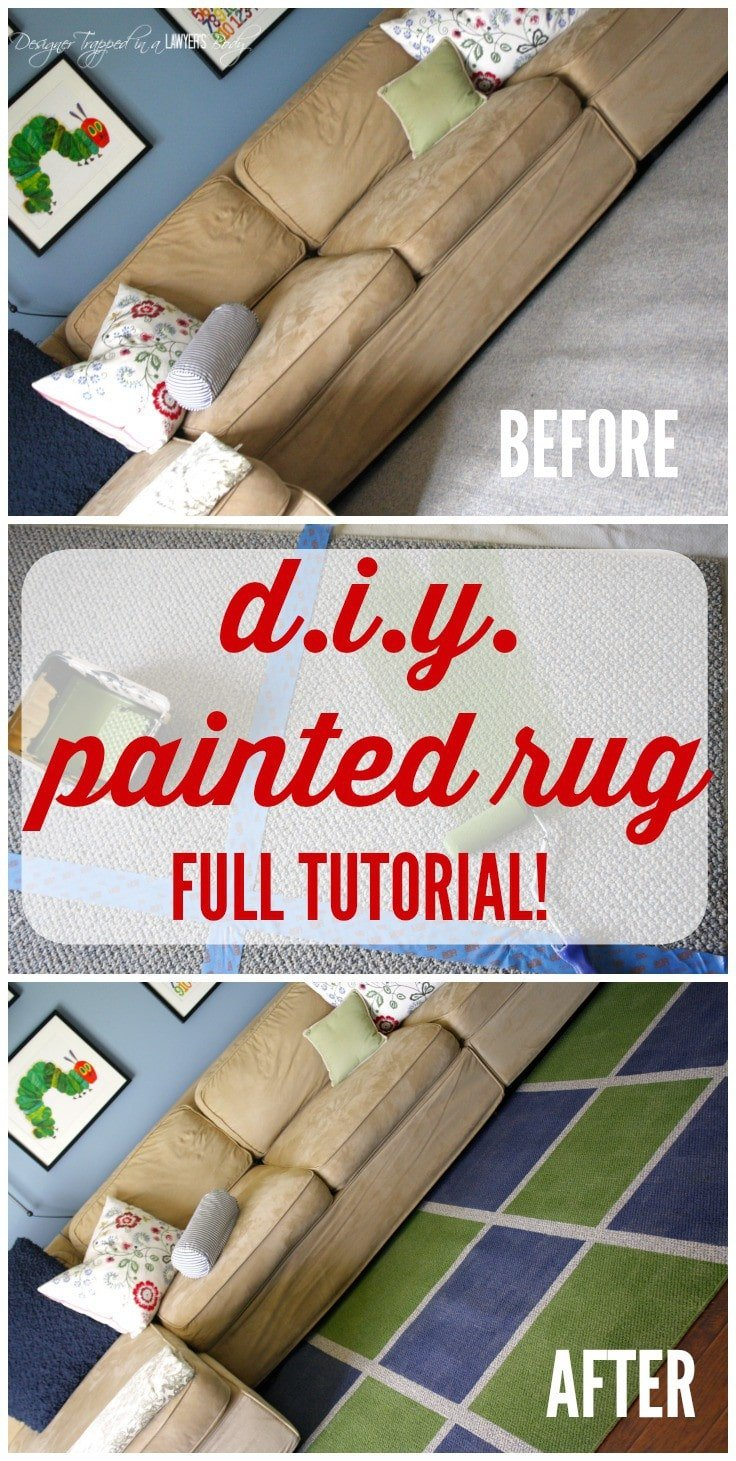 Learn How To Paint A Rug For A High End Look On