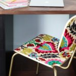 """How to Decoupage Furniture With Fabric for an """"Upholstered"""" Look!"""