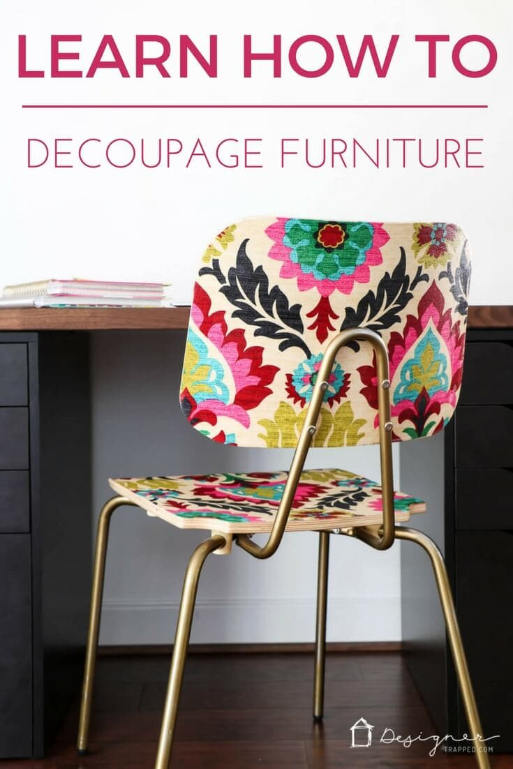 Did you know you can decoupage furniture to get an  upholstered  look on a & How To Decoupage Furniture For An Upholstered Look | Designer Trapped