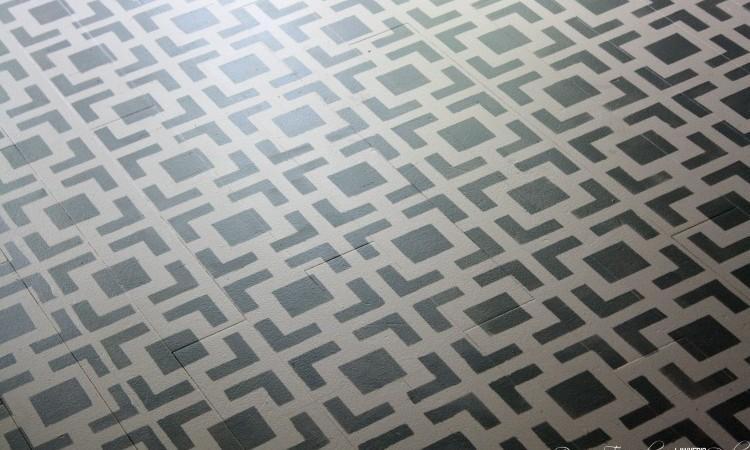 DIY Stenciled Floors ~  a full tutorial
