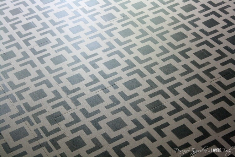 DIY Stenciled Floors ~  a full tutorial
