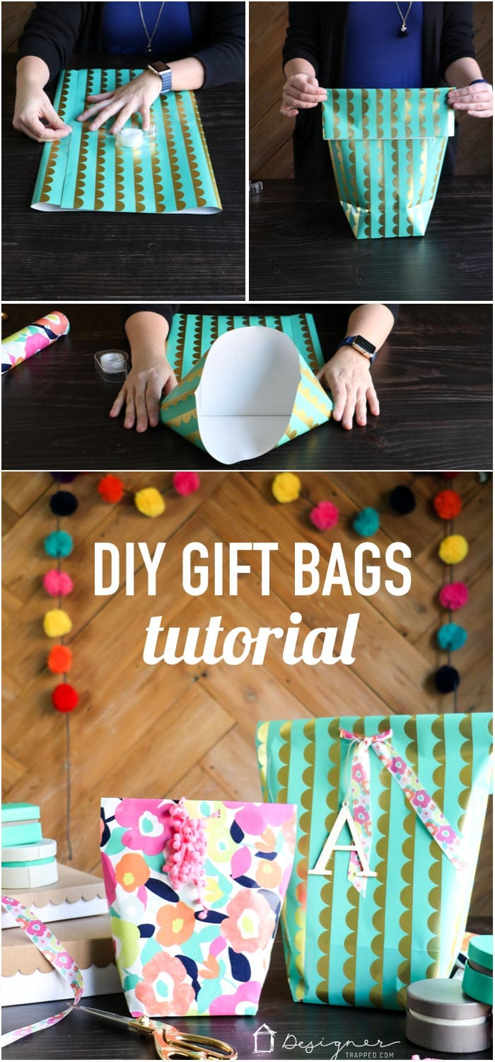 Learn How To Make A Gift Bag From Wrapping Paper