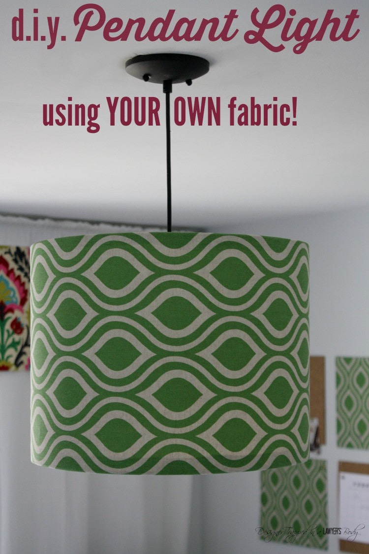 Diy pendant light using your own fabric learn to make your own diy pendant light using your aloadofball Images