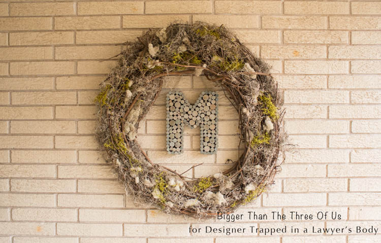 This DIY Wreath idea for Spring is so easy to customize and even use year-around. Find out how in the full tutorial!