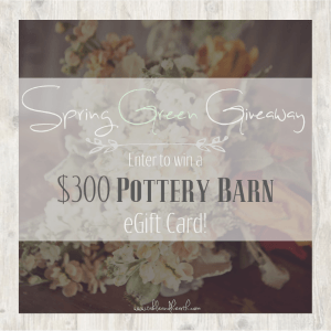 Spring Green Giveaway ~ $300 Pottery Barn e-Gift Card!
