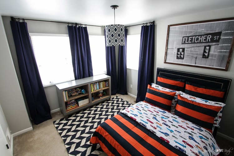 WHAT A FABULOUS BOY'S ROOM! Check out this full boy's room reveal by Designer Trapped in a Lawyer's Body.