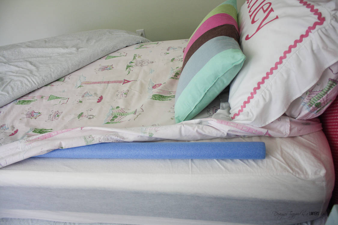 Keep Your Kids In Bed With These DIY Rails Using Inexpensive