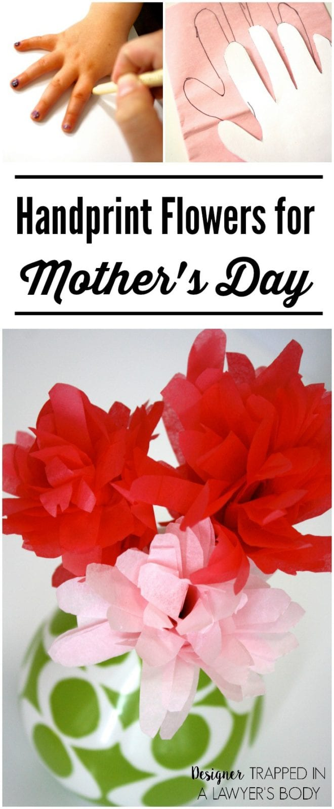 Handprint flowers perfect for mothers day these handprint flowers made from tissue paper are perfect for mothers day mightylinksfo