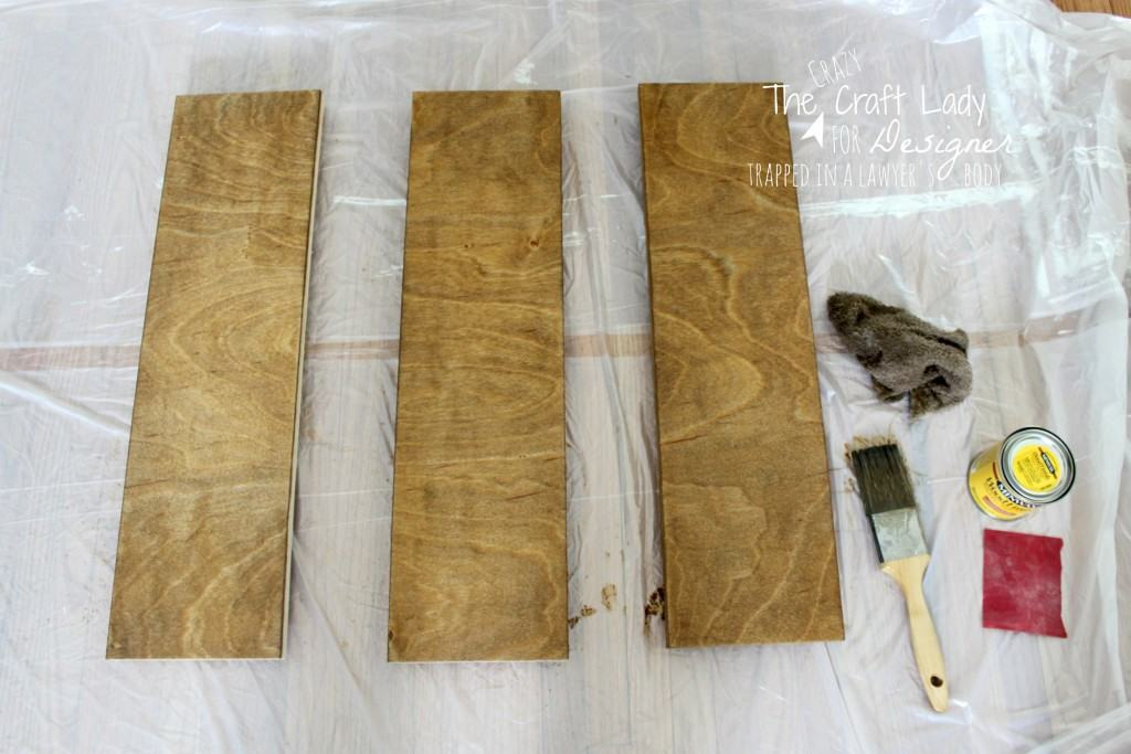 This is Awesome! Turn scrap wood into DIY wall art with stain, paint, and a stencil!