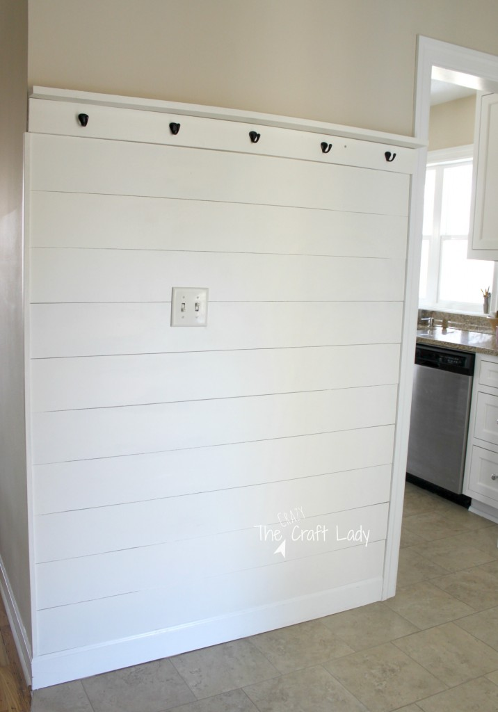 DIY Plank Entry Wall - with an easy tutorial