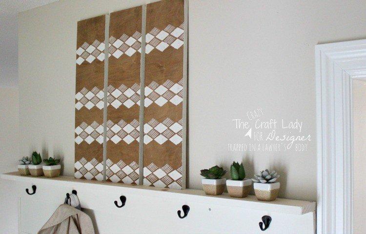 making-stencil-wall-art-scrap-wood