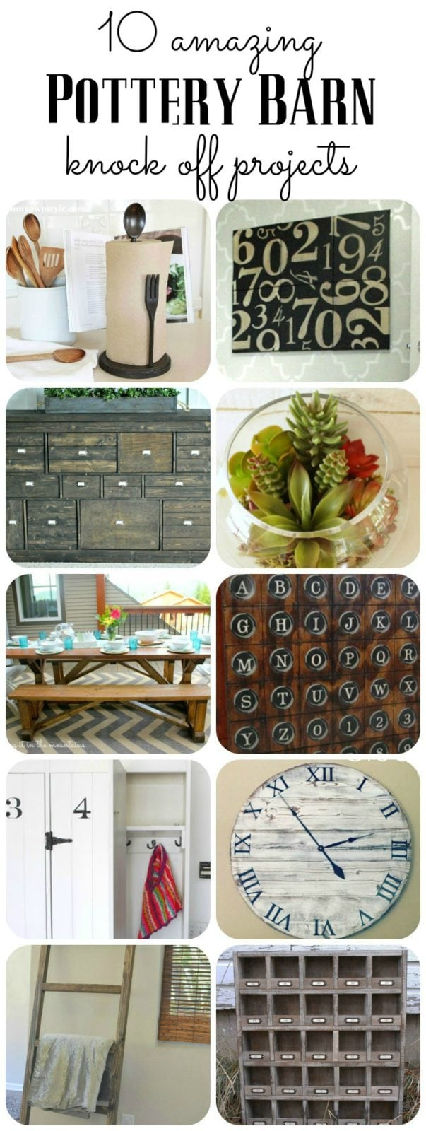 These 10 Pottery Barn Knock Off Projects Are Absolutely Amazing! I Want To