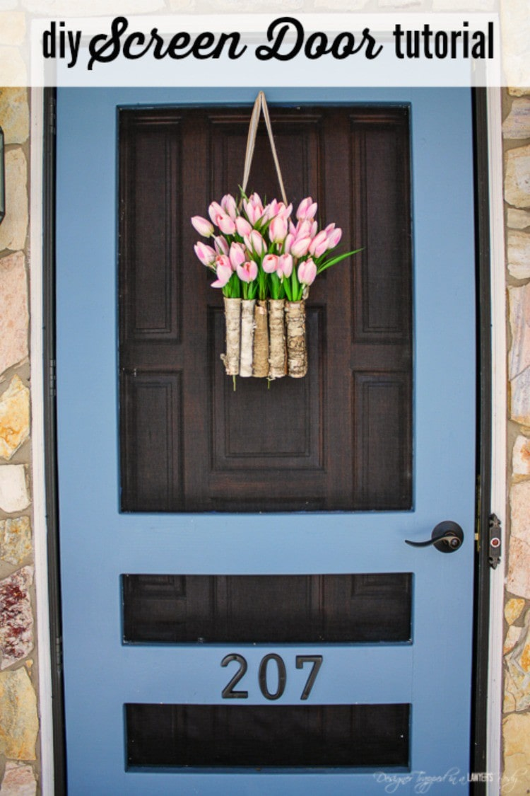 Build your own DIY screen door with this amazing tutorial by Designer Trapped in & DIY Screen Door Tutorial | FREE PLANS!