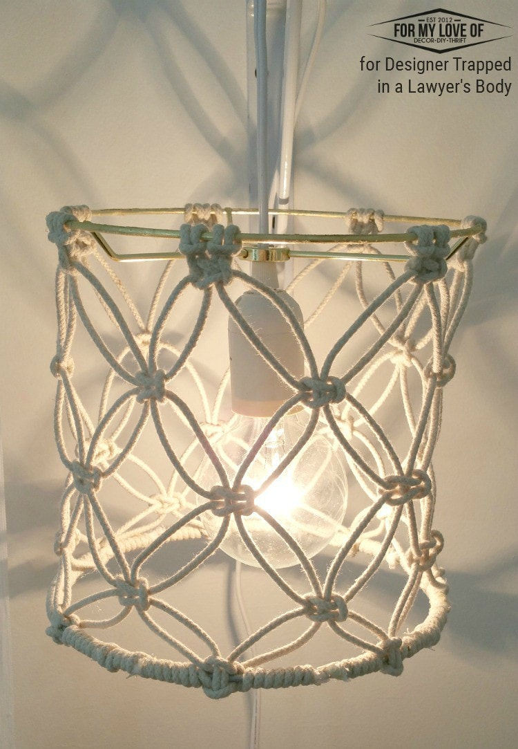 Make Wall Lamp Shades : DIY Macrame Lamp Shade Tutorial Designer Trapped