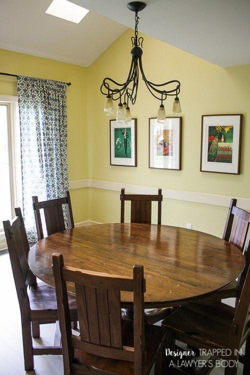 Awesome plans for a budget friendly dining room refresh by Designer Trapped in a Lawyer's Body!