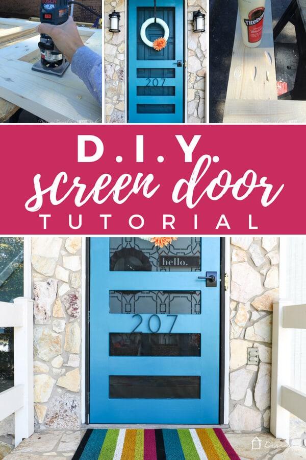 Diy Screen Door Tutorial Free Plans