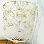 THIS IS AWESOME! Learn to make a DIY macrame lamp shade for a boho chic look on a budget! Full tutorial by For My Love Of for Designer Trapped in a Lawyer's Body.