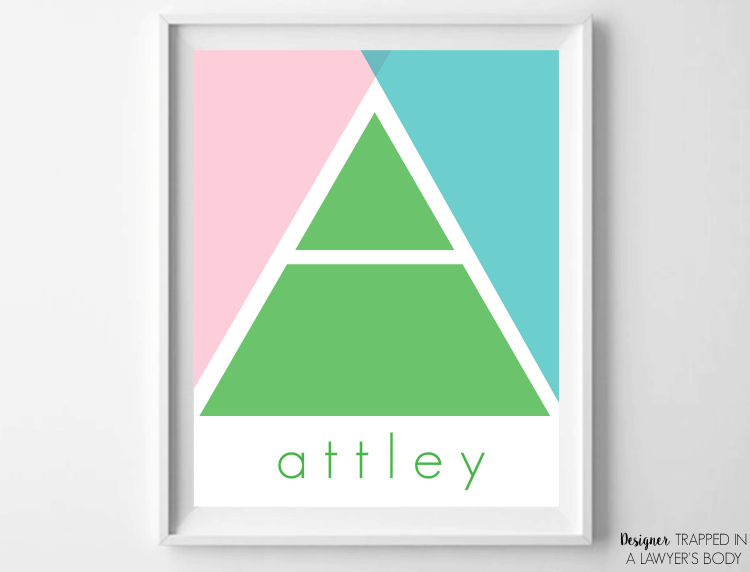 LOVE THIS! Come learn how to make your own DIY monogram art with this incredibly easy to follow video tutorial from Designer Trapped in a Lawyer's Body! #knockoutknockoffs