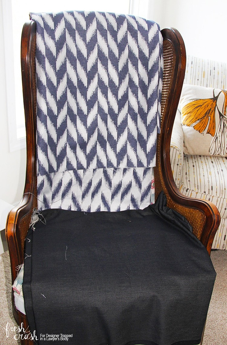This Caned Wingback Chair Makeover Is AMAZING! Come Learn How To Upholster  A Chair With