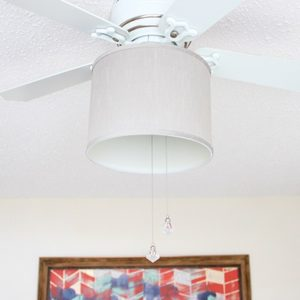 Update your ceiling fan with a drum shade!