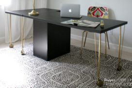 Easiest Ikea Desk Hack EVER!