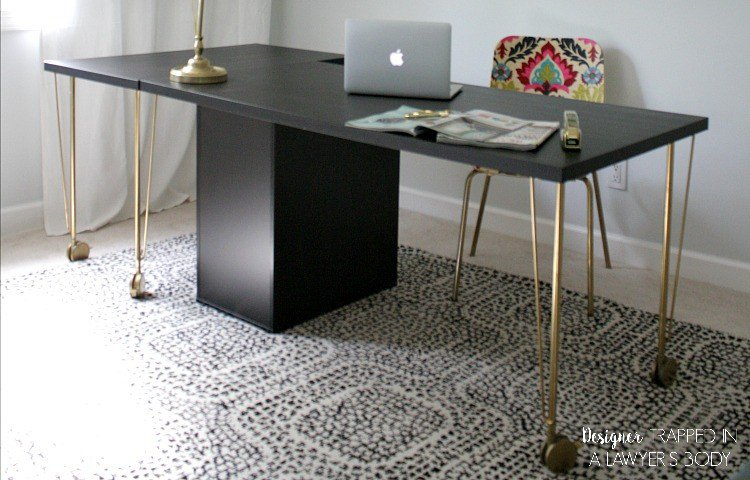 WOW! You would never know this is an Ikea desk hack! Talk about a designer look on a budget. Another fantastic Ikea hack by Designer Trapped in a Lawyer's Body.