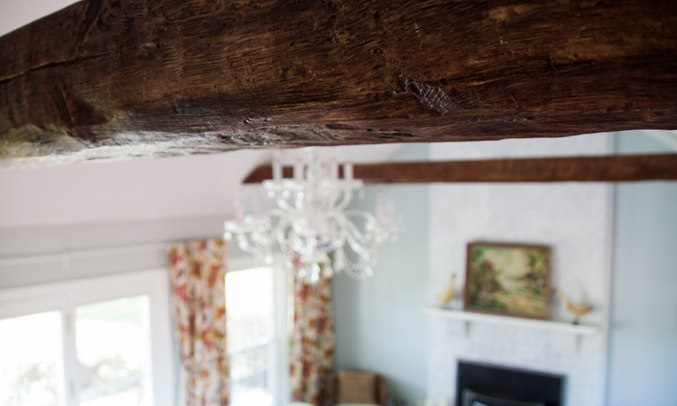 How to Install Faux Wood Beams: Beam Me Up Scottie!