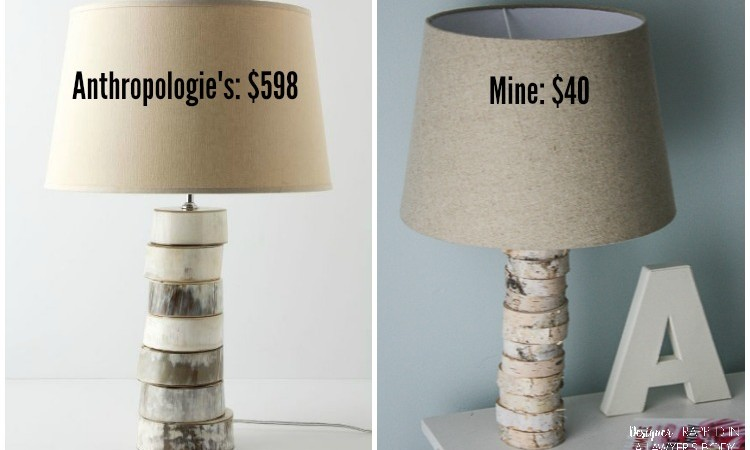 DIY Stacked Wood Lamp: Knock Out Knock Offs No. 1