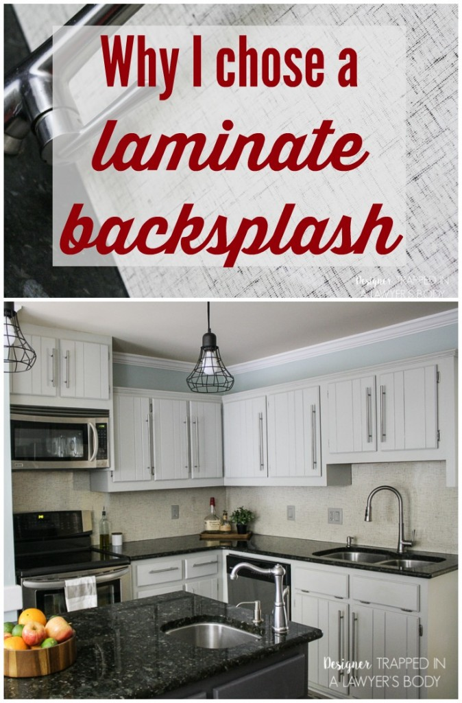Totally Genius To Use Formica Laminate As A Backsplash No Grout To