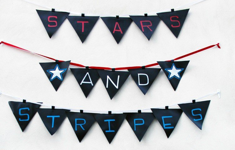 CUTE & REUSABLE! Create these easy chalkboard fabric pennants to endless banner options! Just string them up on ribbon or twine to decorate for any holiday, party, or celebration! Detailed tutorial by Blue i Style for Designer Trapped in a Lawyer's Body.