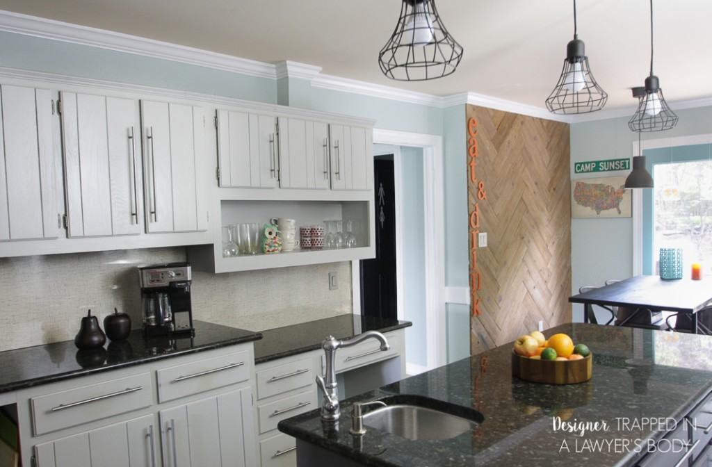 Diy painted kitchen cabinets update for Can you paint formica kitchen cabinets