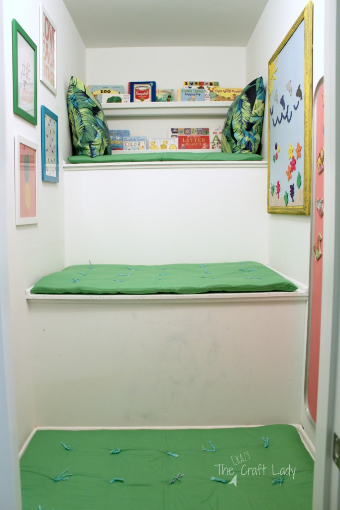 She transformed an odd-shaped storage closet into a play space for her twins, and the result is amazing!