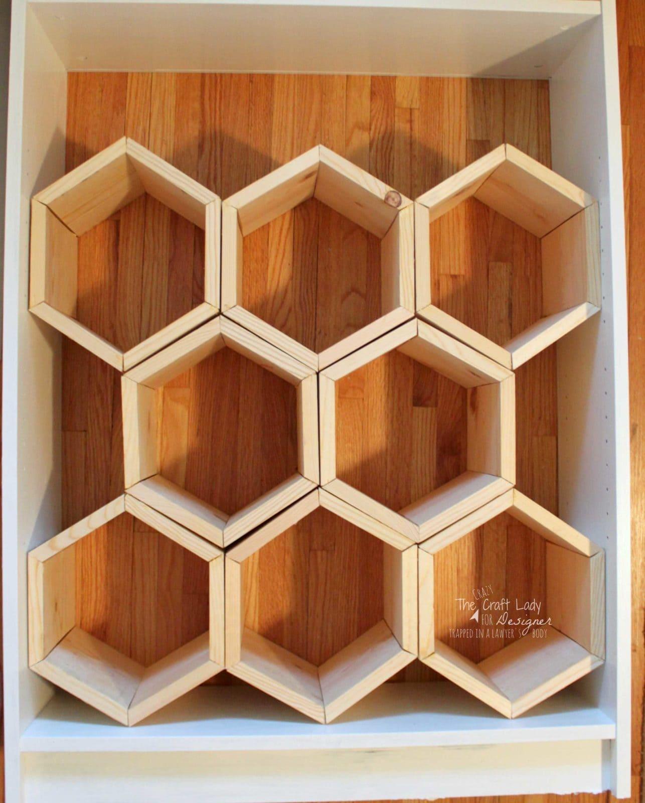 Hexagon DIY Shoe Rack | Designer Trapped