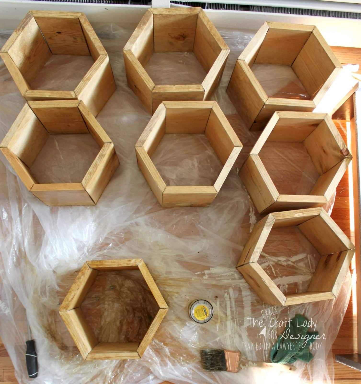 Make A DIY Shoe Rack Using An Old Bookshelf And Making Hexagon Inserts To