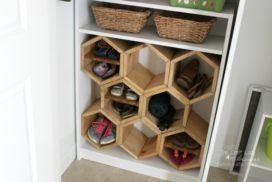 Hexagon DIY Shoe Rack